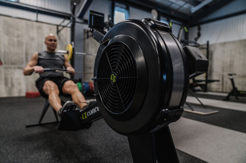 Man rowing on Concept2 RowErg